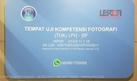 Sertifikasi Fotografer – Tempat Uji sertifikasi fotografi pertama di Jakarta