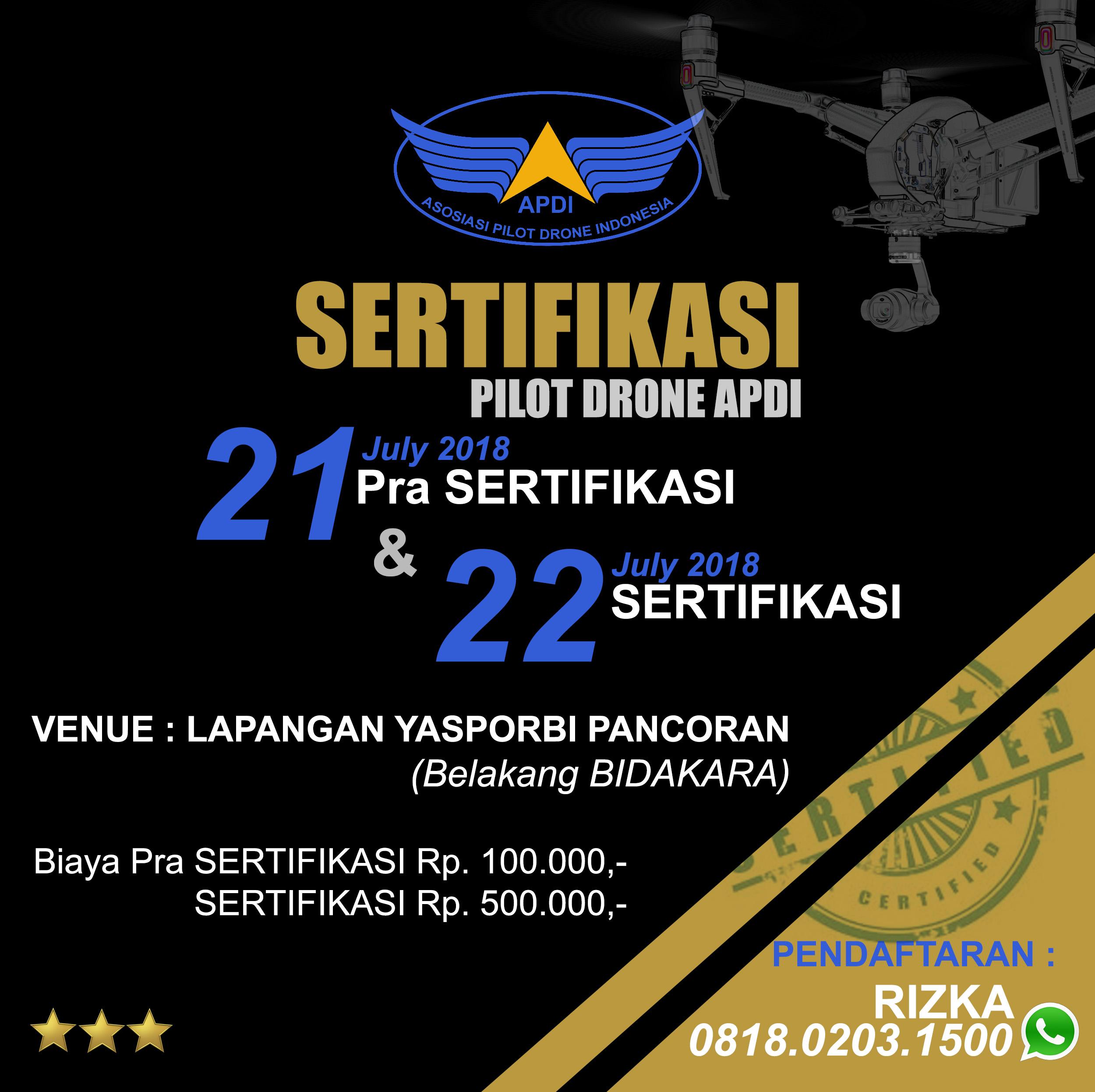 JADWAL SERTIFIKASI PILOT DRONE