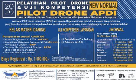 Sertifikasi Pilot Drone Online APDI Pertama di Indonesia