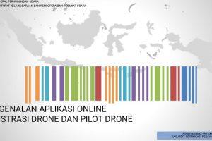 Pengenalan aplikasi online registrasi drone dan pilot drone